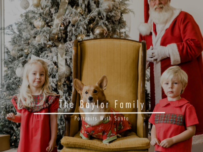 The Baylor Family – Portraits With Santa