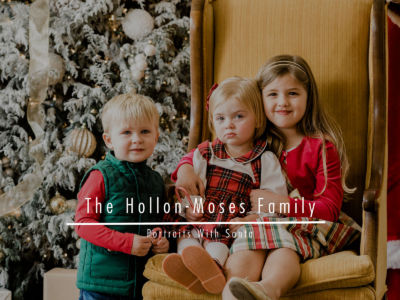 Hollon/Moses Family –  Portraits With Santa