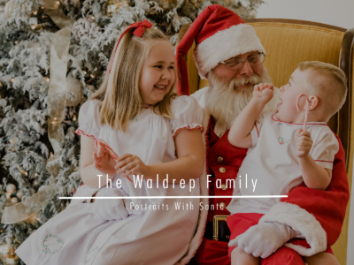 The Waldrep Family – Portraits With Santa